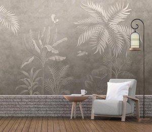 Wallpapers Bacal Custom Po Wallpaper Retro Tropical Rain Forest Palm Banana Leaves 3D Wall Mural Cafe Restaurant El Backdrop Frescoes