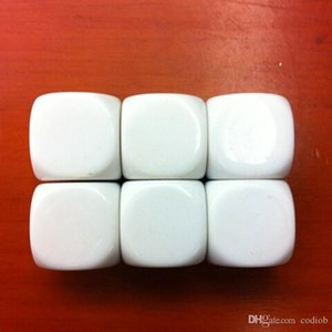 14mm White Blank Dice DIY Dices Rounded Cube Kids Educational Toy Funny Children Game Toys Good Price High Quality #B35