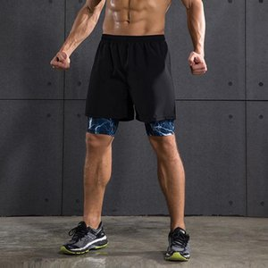 men fitness exercise jogger boxer shorts with inter lining