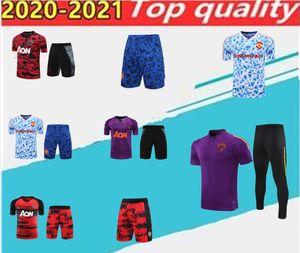 20202021 Manchester Training Terno Homens Rashford Football Jersey, Polo Camiseta Pogba United Manga Curta Shorts Conjunto