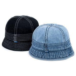 Denim Bucket Hat Women Men Bell Shaped Short Brim Cowboy Round Cap Street Korean Fishing Hats Fisherman Caps Panama Summer Outdoor Hunting