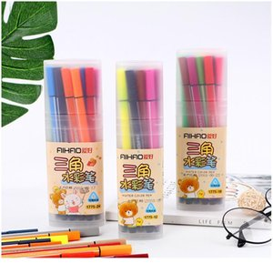 Non-toxic Colors Marker Pens Drawing Set Kawaii 12 18 24 36 Watercolor Felt Pens For Kids Gift School Office Stationery qylqnJ