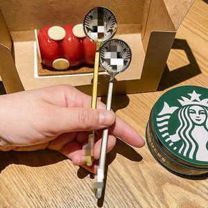 2021 Popolare Starbucks in acciaio inox il latte di caffè in acciaio inox cucchiaio piccolo rotondo dessert mescolando il cucchiaio di frutta