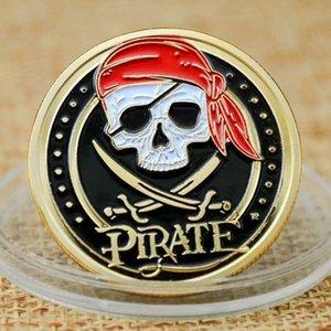 50 шт. Challenge Badge Craft Череп Пиратский корабль Позолоченные сокровища монеты льва моря бегущий с дикой коллекционной медалью Vaule