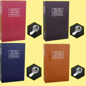 كتاب أصبع البنك الإبداعية الإنجليزية قاموس المال تخزين مربع مع قفل صندوق ودائع آمن المنزل مصغرة النقدية مجوهرات الأمن تخزين مربع 699 K2