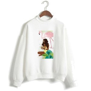 Middle east foreign trade BLACK GIRL black girl women's sweater fleece turtleneck sweater pullover in autumn and winter