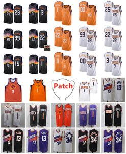 2021 Final Basketball Jerseys Mesh Retro Devin 1 Booker Steve 13 Nash Chris 3 Paul 22 Ayton 99 Crowder 11 Rubio 15 Payne 23 Johnson Jersey