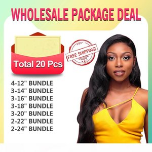 20pcs wholesale package within different texture and length ,real virgin human hair can dye all hair color as you want