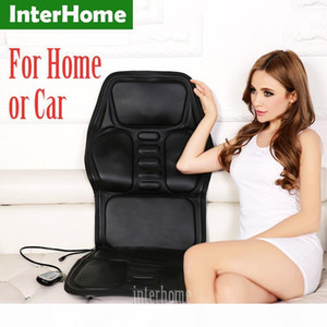 Professional Electric Car Seat Massage Cushion Heating Massage Cervical Neck Back Hips Legs Household Chair Massager PU Leather