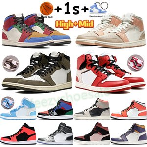 Hautes chaussures de basketball 1 1s Baskets pour hommes Chicago Wolf Wolf Wolf Nail Milan Infrarouge 23 Turf Orange Canyon Canyon Rust Hommes Formateurs
