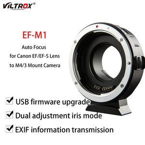 Lens Adapters & Mounts Viltrox EF-M1 Adapter Ring Mount Auto Focus For EF EF-S To M4 3 GH5 GX85 E-M5 II E-M10 III Camera