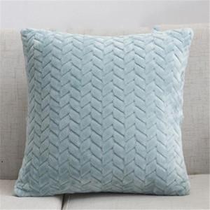 Wurfkissenbezüge texturiert Gestrickter Kurzwolle Samt Plüsch Kissenbezug Kissenbezüge für Sofa Couch Schlafzimmer DHF4983