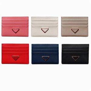 Designer Card Holder Men Womens Cards Holders Black Lambskin Mini Wallets Coin purse pocket Interior Slot Pockets Leather small bag+Metal Shield Name