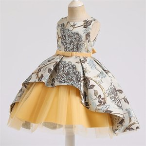 2019 Elegant Dress For Girl Tutu Feast Dress Kids Dresses Girls Children Clothing Gown Party Wedding Lace Princess Dress C0306