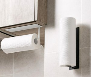 New Home Kitchen Roll Holder, Bogeer Self Adhesive Kitchen Paper Towel Holder, Aluminum Kitchen Paper Rack for Bathroom