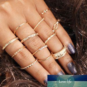 12PCS Elegant Boho Punk Vintage Middle Finger Rings Set Knuckle Band Beach Jewelry NEW