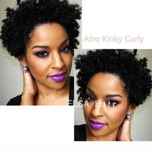 Wigs for black women Pixie cut short Afro Kinky Curly human hair wigs for black women bob full lace front wigs with baby hair for Africans