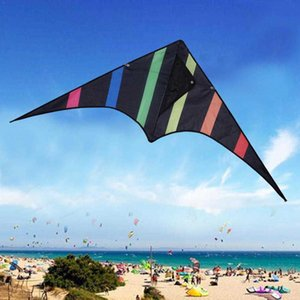 Funny Black And 30m Line With Flying Handle Stunt Outdoor Children Toy Hard-winged Kite Triangle