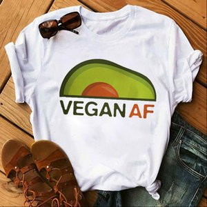 New Avocado Shirt Vegan T Shirt Women Harajuku Cute T shirt Vogue 90s Korean Style Tshirt Fashion Tops Tee