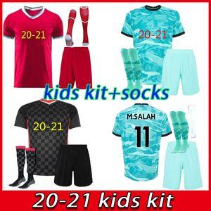 20/21 niños kits de camisetas de fútbol de la camisa de fútbol 2020 2021 Liverpool M. SALAH VIRGILE MANE FIRMINO KEITA Niños camiseta de fútbol Camiseta Niño maillot de pie