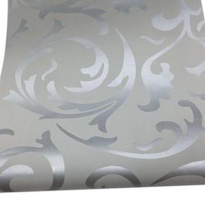 3D Victorian Damasco Papel tapiz en relieve Rollo de papel Decoración para el hogar Sala de estar Dormitorio Cubiertas de pared Floral Luxury Papel de pared