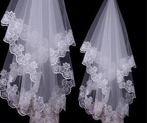 White Ivory Lace Applique Edge One Layer 1.5 M Long Wedding Veil Bridal Veil Bridal Accessories Cheap