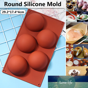 DIY Semi-Sphere Chocolate Bombs Mold Silicone 5 Cells Cake Baking For Handmade Kitchen Pastry Soap Candle Tools