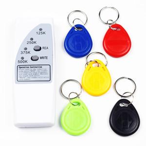 Handheld 4 FREQUÊNCIA 125KHZ 250K 375K 500K RFID Copiadora / Duplicador / Cloner ID Em Leitor Leitor 3pcs EM4305 T5577 Rewrite Tag
