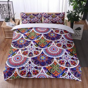 Bedding Sets 3D Printed Bohemian Style Set Mandala Duvet Cover Pillow Case Available All Seasons Twin Full Queen King Size