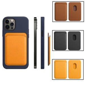 Magsafe Card Bag Magnetic Moda Carteira Casos para iPhone 13 Pro Max 12 Mini Bolsa De Couro Genuíno Capa Original Oficial