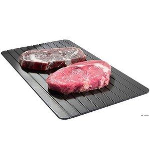 Schnelle Abtauschale auftauen Plattenküche Der sicherste Weg, um Fleisch gefrorene Lebensmittel-Metall-Aluminium-Matte-Küchenwerkzeuge HWC6585 abzuwehren