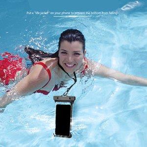 """IPX8 30M caso à prova d 'água Clear Mergulho 6.5 """"Polegada Bolsa de Telefone Bag Beach Surfing Capa protetora Rafting Saco"""