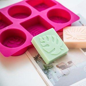 Zanaat Araçları 6 Kavite Yaprak Sabun Kalıp DIY Palmiye Ağacı Silikon Yapmak için Hindistan Cevizi Yaprakları El Yapımı Reçine El Sanatları