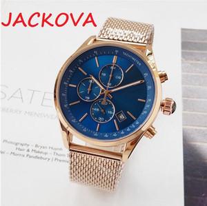Business men automatic date gold watch montre de luxe steel quartz movement classic all dials working fashion designer wristwatch