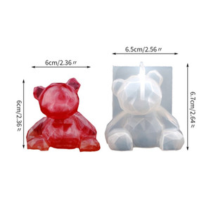 Geometric Mould DIY Epoxy Resin Various Bear Elk Crystal Fashion Adult Children Silicone Molds Home Decoration 4 2fs K2