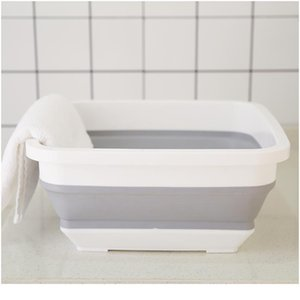 Folding Washbasin Portable Folding Bucket Fishing Camping Car Wash Bucket Collapsible Bucket Washing Basin Travel Cleani jlltTe