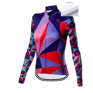 Women 2021 Winter Cycling Jersey Long Sleeves Fit Comfortable Road Bike Tops MTB Jersey Jerseys Fleece To Keep Warm Tops