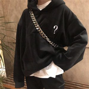 Embroidered Hoodie Interview Point with Hood Women 1:1 Best Black Quality Red Wine Isecret Pullover Com Capuz C1tu