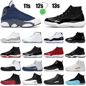 2021 Hommes Chaussures de basket-ball Femmes Jumpman 11 25e Anniversaire Bred Concord 11s Game de la grippe inverse 12 12S The Master Outdoor 13s Sneakers