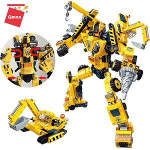 QMAN 26CM Nouvelle transformation de voiture TOAYS DEFORMATION Robot Action Figure Modèle Jouets Techniques Constructeur Constructeur Brique Meilleur cadeau enfants x0127