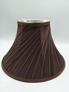 E27 Art Deco lamp shade for table lamp Horn shape coffee color fabric lampshade modern style cover for desk