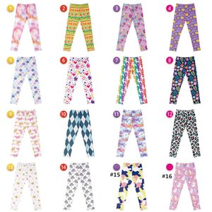 Girls Leggings Baby Pants Kids Tights Child Clothes Spring Autumn Ice Silk Elastic Print Big Children's Trousers Clothing Leopard B6674
