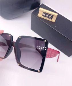 2020 Новая Люксурная Высочайшее Качество Классические квадратные Солнцезащитные очки Дизайнер Бренд Мода Мужская Женская Солнцезащитные Очки Очки Металлические Линзы 866