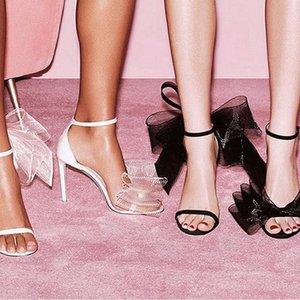Dress Shoes Summer Catwalk Fashion Big Bow Stiletto High Heels With Female Sandals Banquet All-match Daily Bridal Wedding