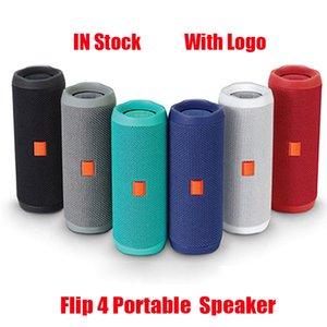 New Flip 4 Bluetooth Speaker Portable Mini Wireless Flip4 Outdoor Waterproof Subwoofer Speakers Support TF USB Card With Logo