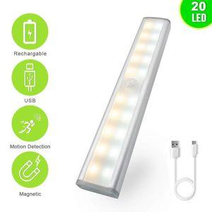 Wireless LED Under Cabinet Light PIR Motion Sensor Lamp 6 10 LEDs for Wardrobe Cupboard Closet Kitchen Lighting Led Night Light
