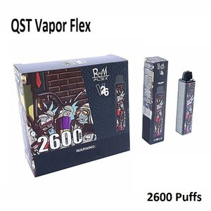 Authentic Randm Flex Disposable Pod Device 2600 Puffs 1000mAh 8.5ml Colorful QST Vapor Cartoon Vapor Bar Stick System Starter Kit
