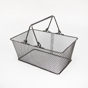 Commercial Furniture New Shopping Baskets for Cosmetics ,powder Metal Handles Corbeille Eco