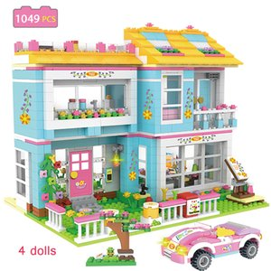 Friendship Building Blocks Friends Mia Tree House Coffee Shop Stacking Bricks with LYS Figures Bricks Toys for Girls