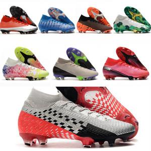 2021 Estilo Sapatos Mercuriais Superfly VII 7 360 Elite SE FG CR7 Safari Ronaldo Neymar NJR Mens Futebol Boots Botas de Futebolas Corrida Homens Mulheres 38-45